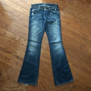 7 For All Mankind blue jeans boot cut size 26